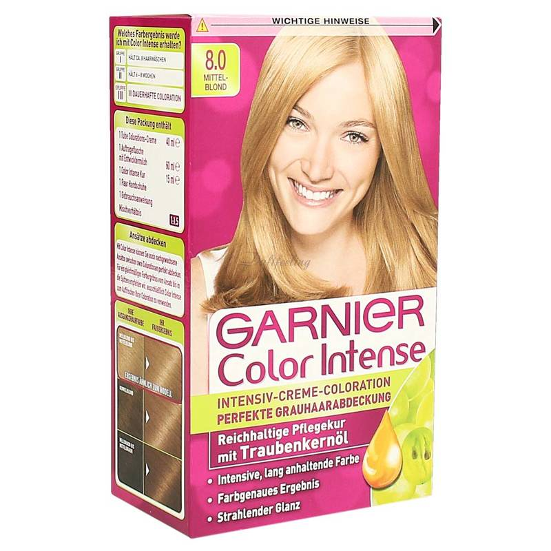 Garnier Color Intense 8.0. Mittelblond