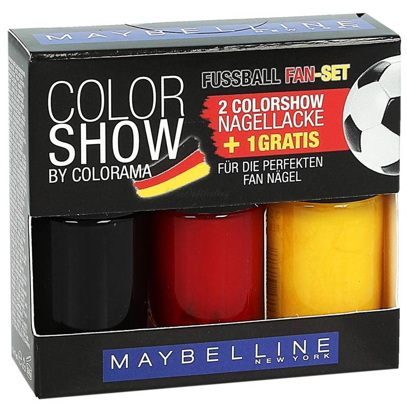 Maybelline Color Show Nail Polish Set Germany 3x7 ml