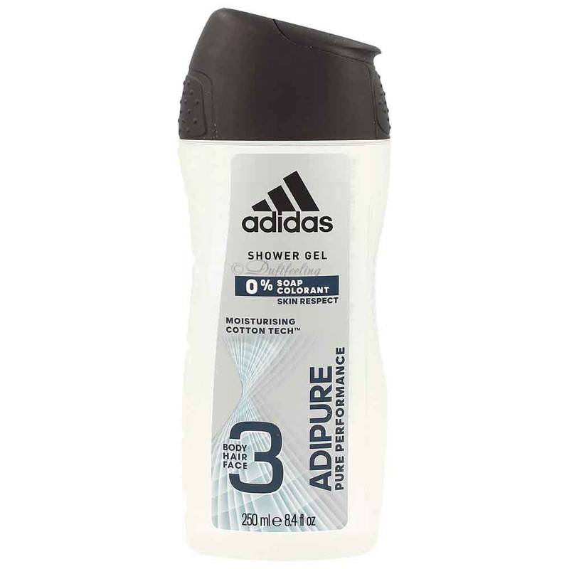Adidas Adipure 2in1 (Body Hair Face) Shower Gel 250 ml