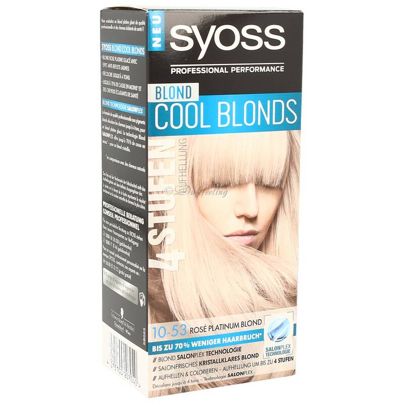 Syoss Coloration10-53 RosePlatinum Blond