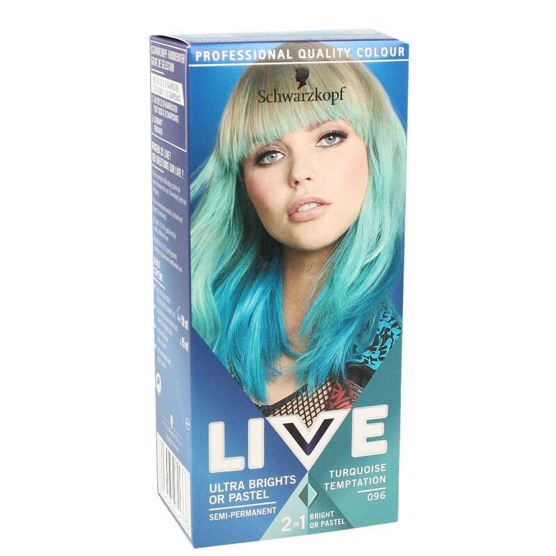 Schwarzkopf LIVE Ultra Brights or Pastel Turquoise Temptation 096