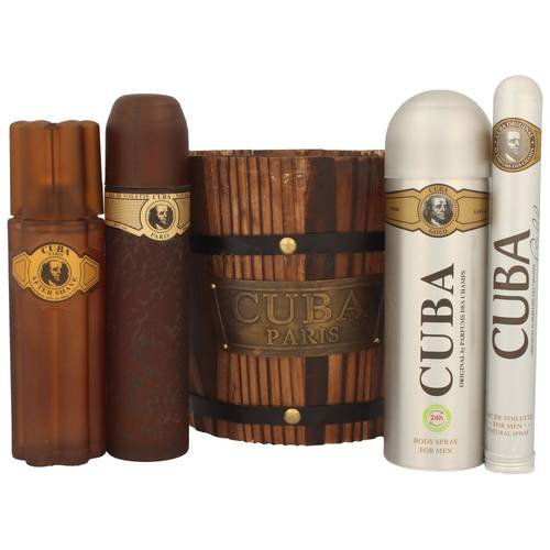 Cuba Gold Edt 100 ml + Edt 35 ml + Afer Shave 100 ml + Deodorant 200 ml Set