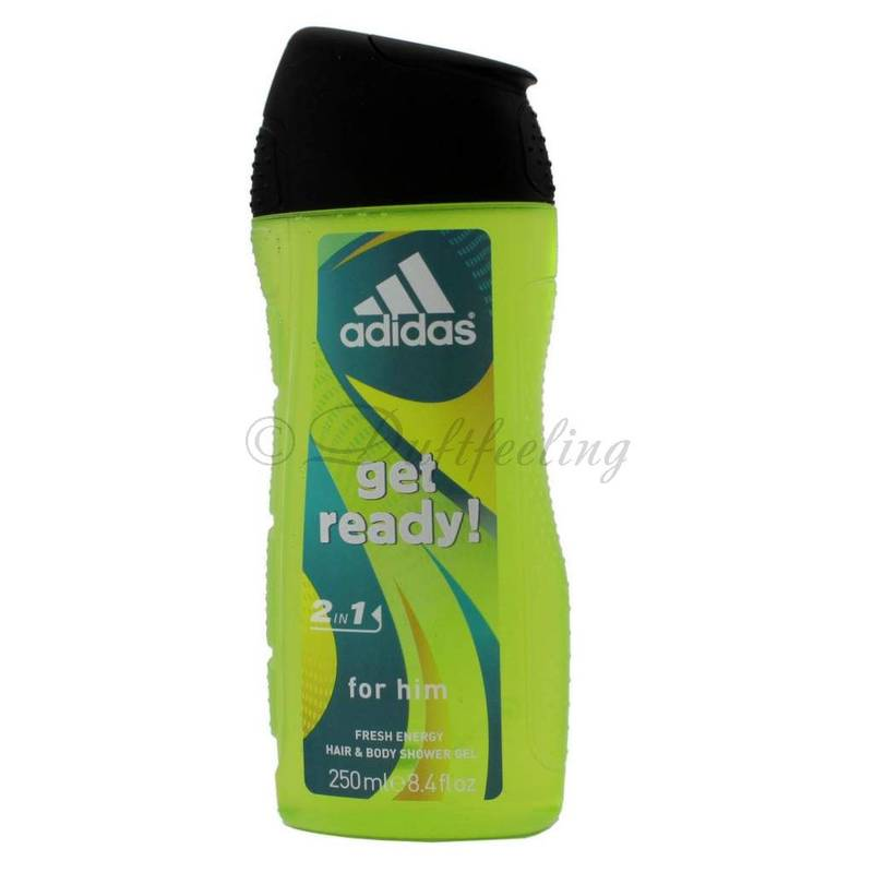Adidas Get Ready! for him Fresh Energy Hair und Body Gel 250 ml