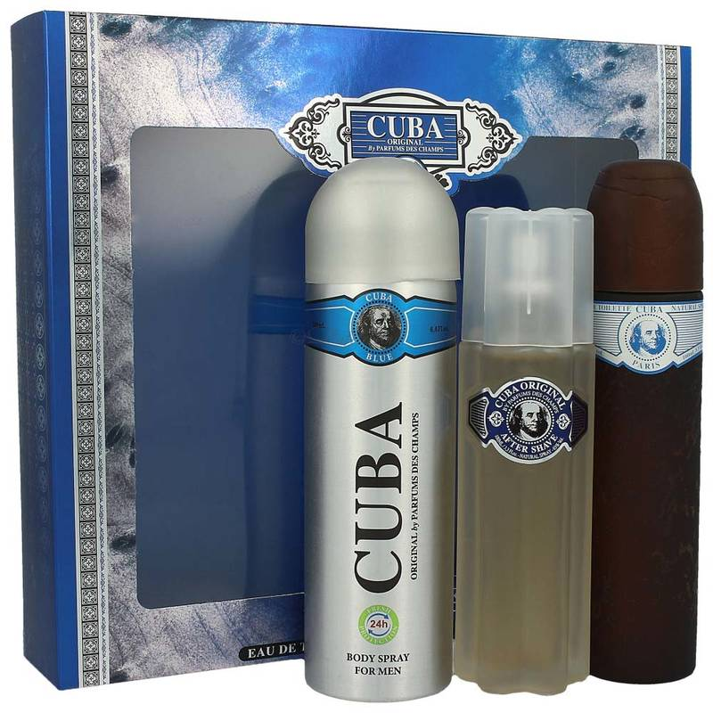 Cuba Blue Man Edt 100 ml + Deodorant 200 ml + After Shave 100 ml Set
