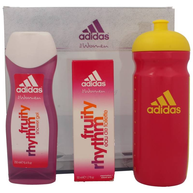 Adidas Fruity Rhythm  for Women Edt 50 ml + Shower Gel 250 ml + Trinkflasche Set