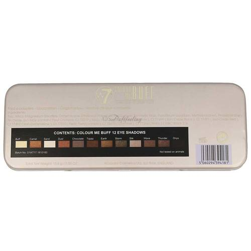 W7 Colour Me Buff Eye Colour  Palette ( 12 Color )