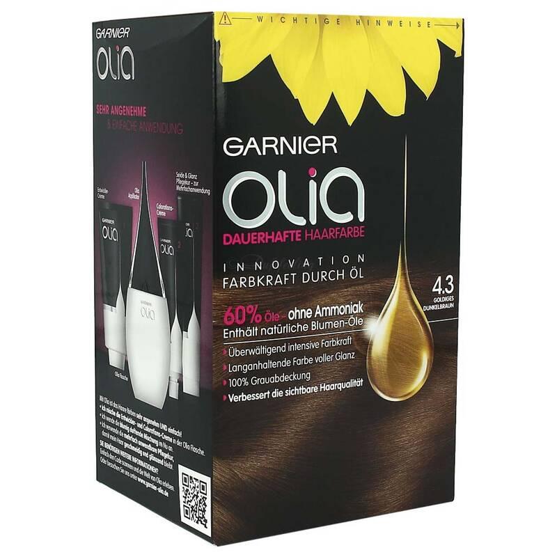 garnier olia dauerhafte haarfarbe 4 3 golden braun. Black Bedroom Furniture Sets. Home Design Ideas